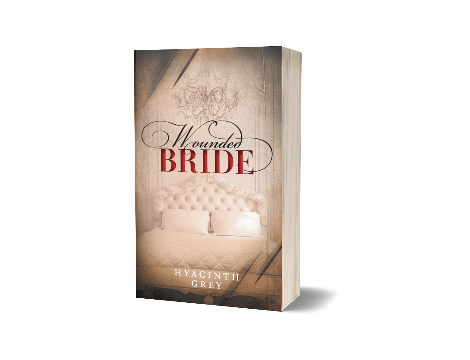 Softcover/Paperback 3D Mockup cover image Wounded Bride by Hyacinth Grey - clicking this link will open the Wounded Bride page in a new tab