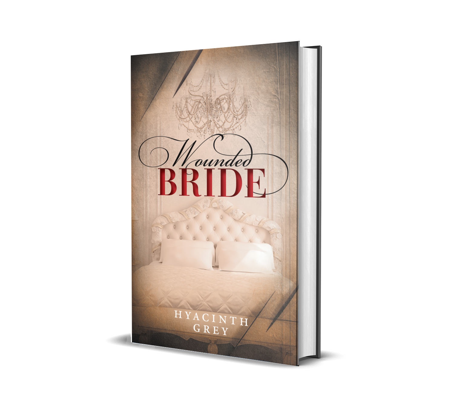 Click on this 3D mockup Hardcover image to be taken to the Wounded Bride page.